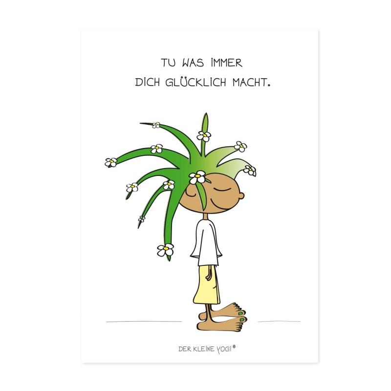 Postkarte - Glücklich