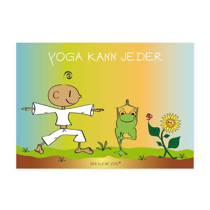 Postkarte - Yoga kann jeder