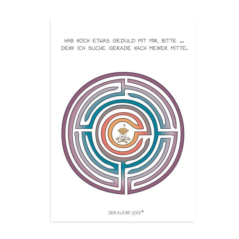 Postkarte - Yogi Labyrinth