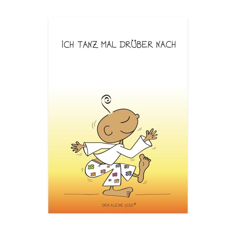 Postkarte - Ich tanz mal drüber nach