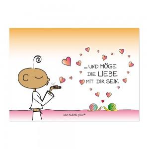 Postkarte - Und möge die Liebe mit Dir sein