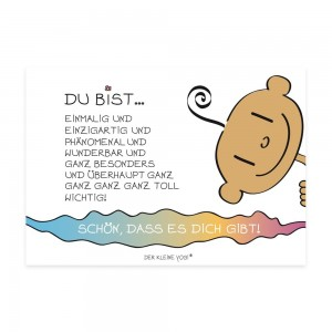 Postkarte - Du bist ...