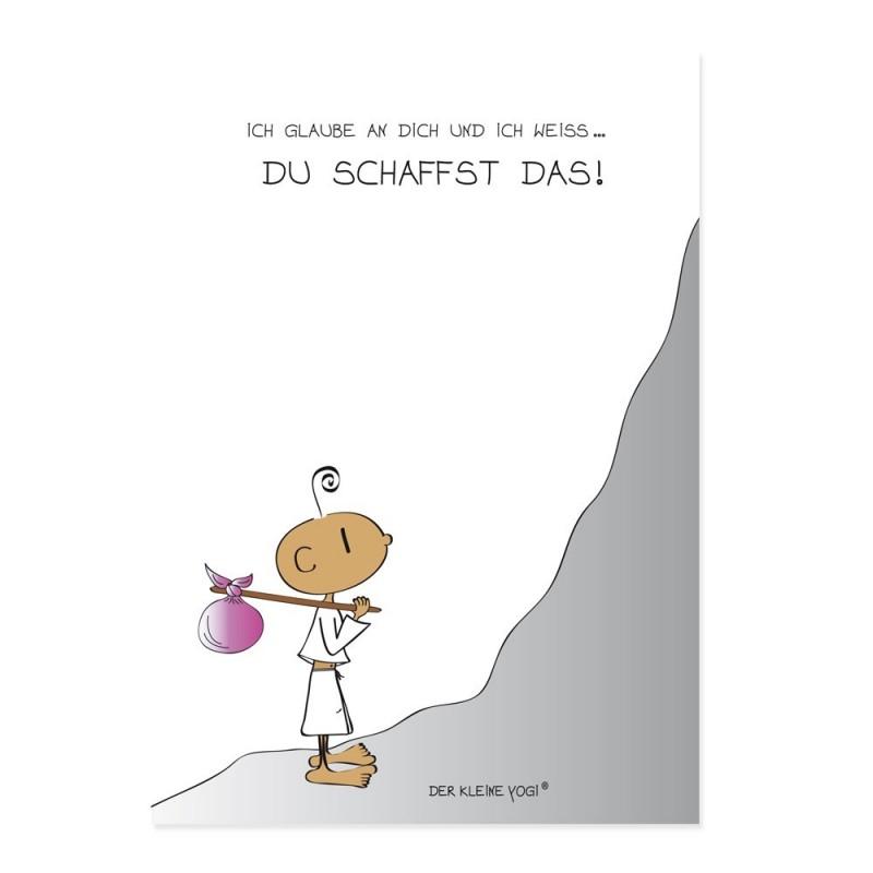 Postkarte - Du schaffst das - NEU