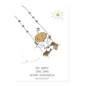 Postkarte - Schaukeln