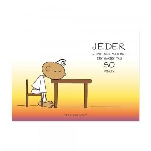 Postkarte - Jeder darf sich