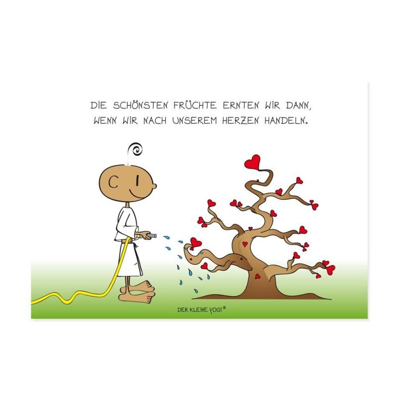 Postkarte - Herzbaum