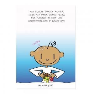 Postkarte -Flausen im Kopf