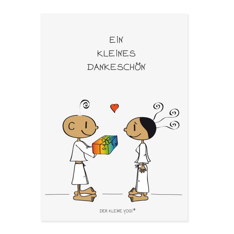 Postkarte - Ein kleines Dankeschön