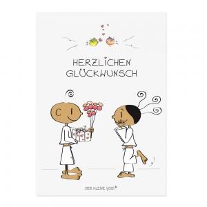 Postkarte - Herzlichen Glückwunsch