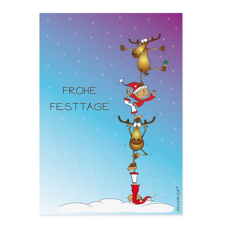 Postkarte - Frohe Festtage