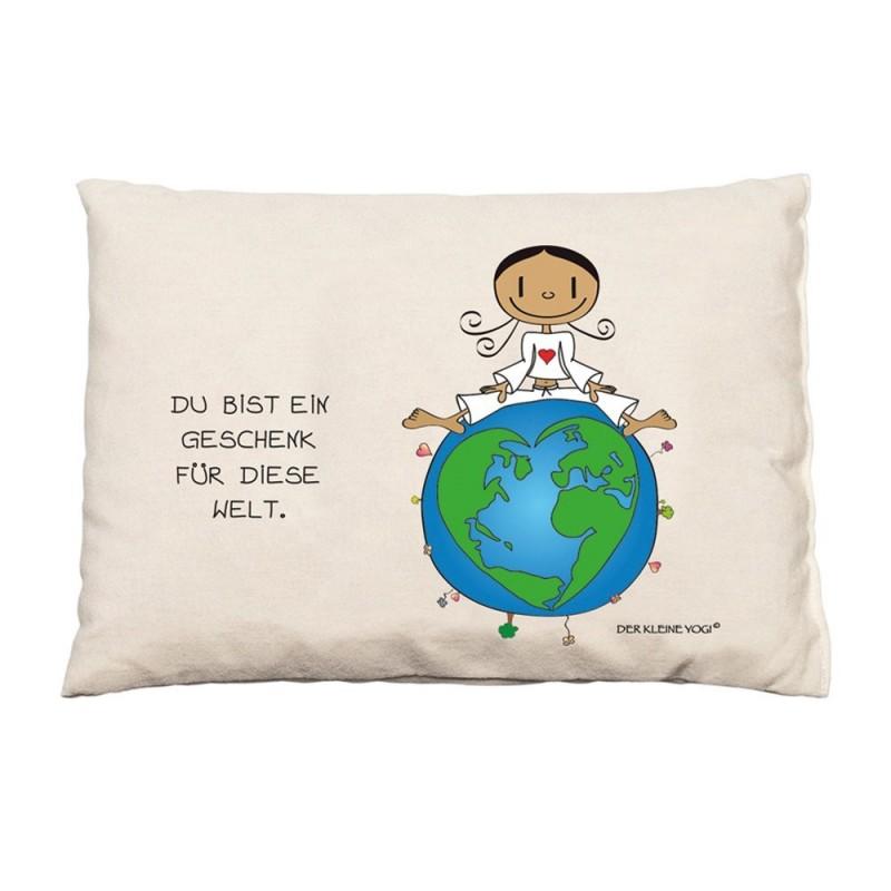 BIO Zirbenkissen - Du bist ein Geschenk für diese Welt - NEU